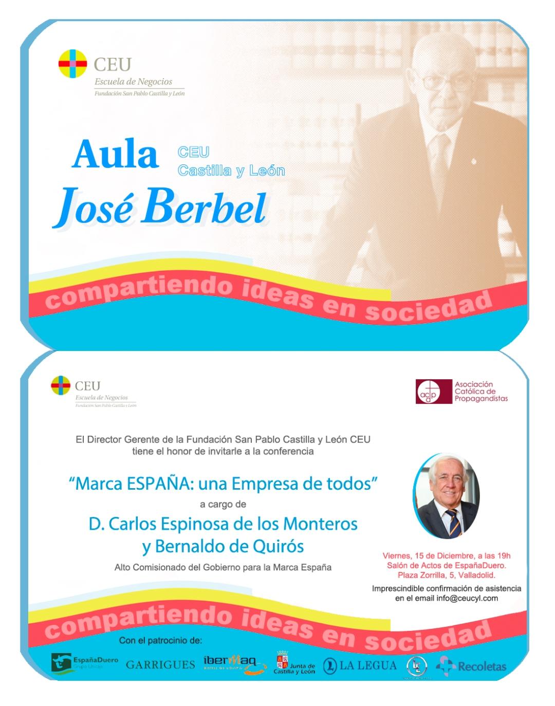 Invitación Aula Berbel